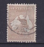 K305) Australia 1915 2/- Light Brown 2nd wmk. Kangaroo. Fine used, well centred