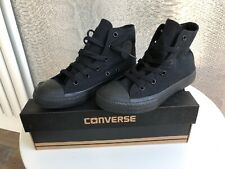 CONVERSE ALL STAR HI JUNIOR TRAINERS BRAND NEW SIZE UK 1 Black