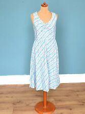 Robe vintage 70's à rayures / spot print Rétro Boho 14 besoins ourler