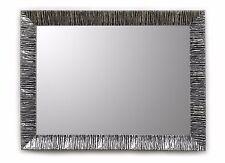 Specchiera Classica Rettangolare - 63x83 cm. - Specchio Nero Argento