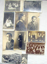 Judaica 10 Antique Photos of a Jewish family Lithuania-Palestine, 1920-30's