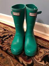 Women's Original Hunter Short Rain Boots Teal Size 8