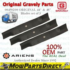 """3 Pack Gravely Ariens ORIGINAL 00450200 Lawn Mower Blades for 44"""" and 48"""" OEM"""