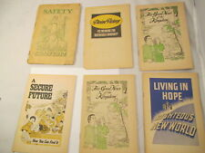 Lot of 6 Watchtower Bible And Tract Society Booklets ~Out of Print!    3