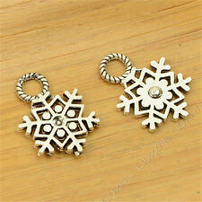20pc Tibetan Silver Charms Christmas Snowflake Pendant Beads Accessories H698H