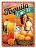 Nostalgie Blechschild - Tequila Sunrise - Blechschilder