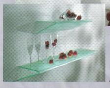 cooles Design Doppel Glas Wand REGAL m. Edelstahl Bef.*90 x 18cm*Angolo*2te.Wahl