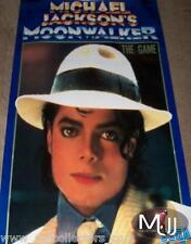 MICHAEL JACKSON MOONWALKER THE GAME USA PROMO POSTER RARE 1989! MINT/ NO BAD CD