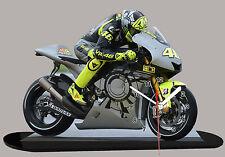 MODEL CARS, MOTO, Valentino Rossi, yamaha -06 avec horloge
