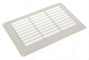 PACKET OF 1 X AIR VENT WHITE PLASTIC LOUVRE 9 X 6 229MM X 150MM M2040