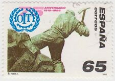 (SPA153) 1994 Spain 65p ILO multicolour f/used ow3265