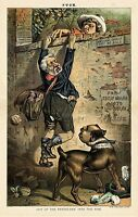 GROVER CLEVELAND GUARD DOG JAMES BLAINE TATTOO PRESIDENTIAL ELECTION WATCHDOG