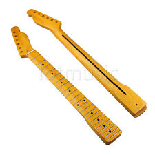 Light Yellow Maple Electric Guitar Neck For TL Parts Rosewood Inlay Back 22 Fret