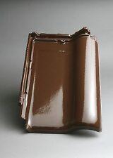 Dachziegel M-PLUS dunkelbraun (Glasur)  / Flachdachziegel Tondachziegel