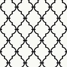 Black White Trellis Wallpaper|Nursery Baby Teen Modern Accent Wallpaper|YS9100