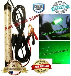 "12v Waterproof 12"" DELUX LED GREEN UNDERWATER SUBMERSIBLE NIGHT FISHING LIGHT"