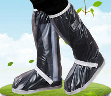 Unisex PVC Waterproof Rain Boots Anti Slip High Shoes Cover Light Galoshes