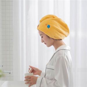 Women Absorbent Hair Dryer Cap Quick-drying Coral Fleece Dry Hair Towel Cap YG