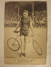 cpa cycliste vélo ancien sport course 1900-1920 photo N/B n°7 B SPEARS sprinter