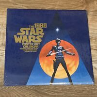 Vintage 1980 Star Wars SEALED Poster Art Calendar Ballantine Books 28421-6