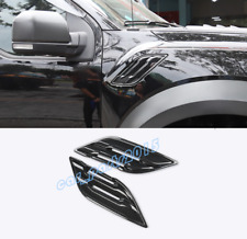 ABS Carbon Fiber Side Wing Air Vent Fender Cover For Ford F150 F-150 2017-2019