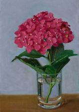 Original oil painting still life realism hydrangea flower 8x10 Y Wang fine art