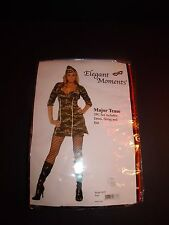 Elegant Moments MAJOR TEASE Army Military Sexy Woman 3pc Halloween Costume S