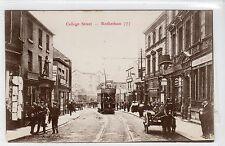 COLLEGE STREET, ROTHERHAM: Yorkshire postcard (C12526)