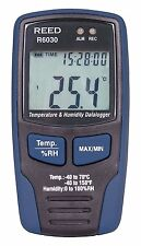 REED R6030 Temperature/Humidity Datalogger, -40 to 70°C (-40 to 158°F), 0-100%RH