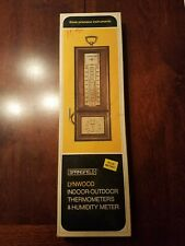Vintage Springfield Lynwood Indoor Outdoor Thermometer & Humidity Meter new USA