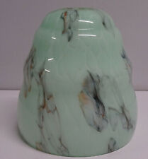 VINTAGE DECO MARBLED GLASS LIGHT SHADE