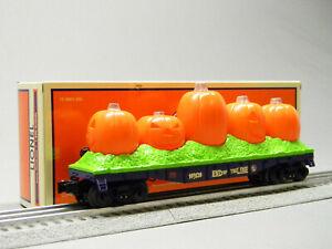 LIONEL JACK-O-LANTERN ILLUMINATED FLAT CAR O GAUGE rolling stock lio2028160 NEW