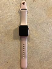 Apple Watch Series 3 GPS 38mm Rose Gold Scratch across Screen IC Locked  Parts