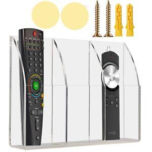 TV Air Conditioner Remote Control Holder Acrylic Wall Mount TV Organizer USA