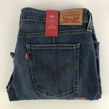 Levi's Womens Size 27 711 Skinny Stretch Medium Blue Denim Jeans A2406