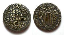 FERRARA - BENEDETTO XIV 1740-1758 -AE/ 1/2 MEZZO BAIOCCO 1745