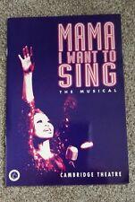 Mama I Want Sing Theatre brochure 1995, Stacy Francis, Chaka Khan, Doris Troy