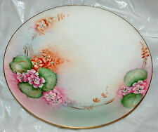 """Collector Plate Floral Design Gold Edging B & U France Hawaii Valley 8.5"""""""