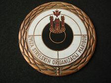 Slovenia, Yugoslavia, Maribor Shooting Association plaque, enamel medal, vintage