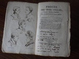 Procès des Trois Anglais WILSON HUTCHINSON BRUCE Evasion Lavalette (1816)