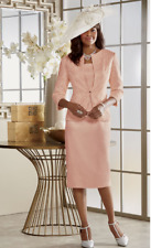 Ashro Diahann Jacket Dress Formal Mother of the Bride Peach 6 18W 24W 26W PLUS