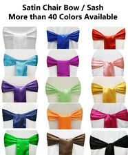 25/50/100/125/150/200 SATIN Chair Sashes Cover Bows for wedding party decoration