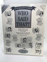 "Who Said That? Quiz Jigsaw Puzzle Game Quotes Sealed/NIB ""The World's Toughest"