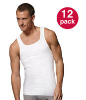 WHOLESALE! Men's Tank Top PACK OF 12: Athletic A-shirt/Wife Beater/100% Cotton