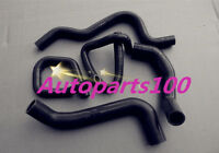 Black silicone radiator heater hose kit for Ford Falcon BA BF XR6 Turbo
