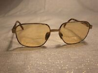 Yves Saint Laurent Glasses Brown Tortoise Gold Tone Prescription 130mm France