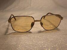 Yves Saint Laurent Glasses Brown Tortoise Gold Tone Prescription 130mm France