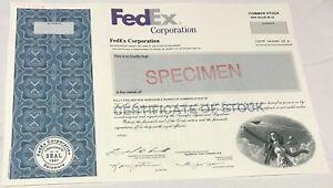 2005 FEDEX Corporation Odd Shares Stock Certificate SPECIMEN Federal Express