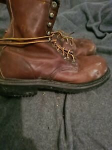 redwing  steel toe brown leather boots 10E