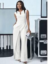 15d18e0e16f New ListingNEW YORK COMPANY 7TH AVENUE Sz 14 IVORY WHITE SEAMED PANTS  JUMPSUIT l sleeveless